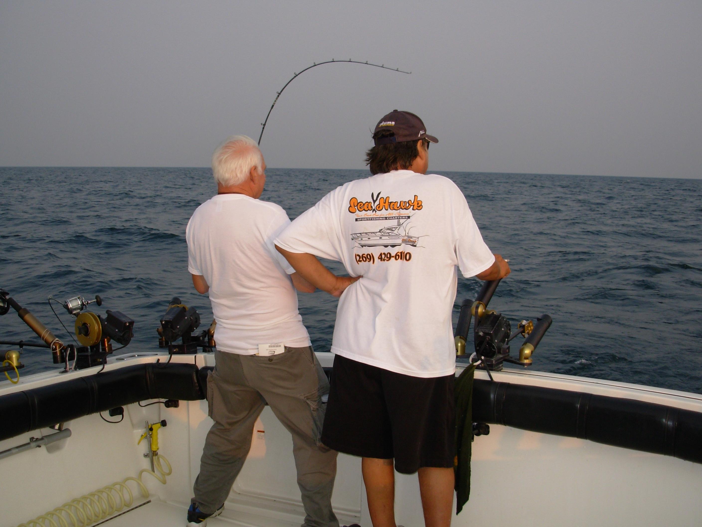Fishing photos lake michigan fishing charters seahawk for Michigan fishing charters